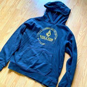 Volcom kids black hoodie sz L
